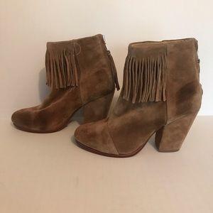 rag & bone suede fringe boots size 6.5